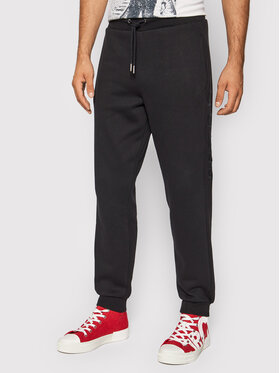 Guess Guess Spodnie dresowe M1YB51 K9V31 Czarny Regular Fit