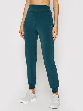 4F 4F Spodnie dresowe H4L21-SPDD011A Zielony Regular Fit