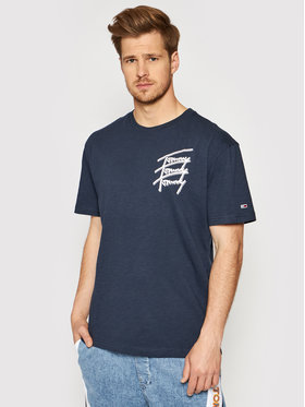 Tommy Jeans Tommy Jeans T-shirt Tommy Repeat DM0DM10228 Blu scuro Regular Fit