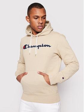 Champion Champion Felpa Satin Script Logo 214183 Beige Comfort Fit