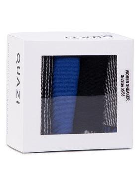 QUAZI QUAZI Súprava 4 párov členkových dámskych ponožiek QZ-SOCKS-65-04-WOMAN-007 Čierna