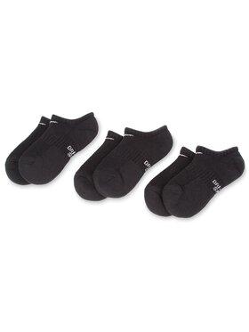 Nike Nike 3 pár unisex bokazokni SX6843 010 Fekete
