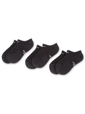 Nike Nike Set de 3 perechi de șosete joase unisex SX6843 010 Negru