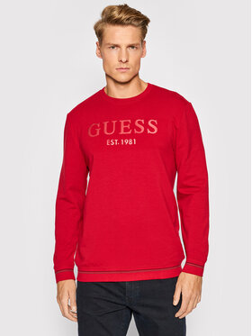 Guess Guess Μπλούζα M1BQ08 K6ZS1 Κόκκινο Slim Fit