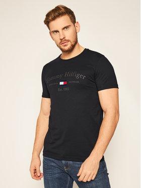 TOMMY HILFIGER TOMMY HILFIGER T-Shirt Archive MW0MW15320 Černá Regular Fit