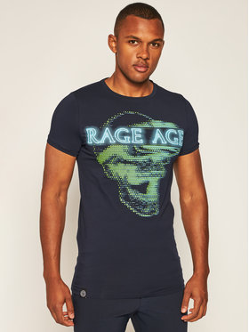 Rage Age Rage Age T-shirt Virtual 1 Blu scuro Slim Fit