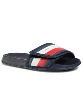 Tommy Hilfiger Šľapky Maxi Velcro Pool Slide T3B0-30761-0739 S Tmavomodrá