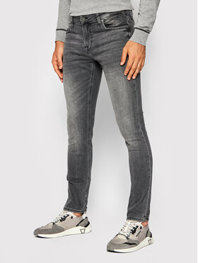Guess Guess Jeansy Miami M1YAN1 D4F54 Szary Skinny Fit