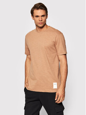 Outhorn Outhorn T-Shirt TSM616 Brązowy Regular Fit