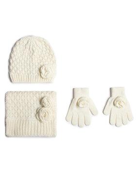 Mayoral Mayoral Zestaw czapka, szalik i rękawiczki 10897 Biały