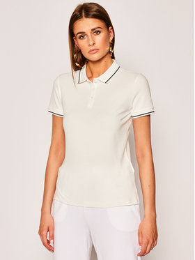 Emporio Armani Emporio Armani Тениска с яка и копчета 3H2M7W 2JBXZ 0101 Бял Regular Fit