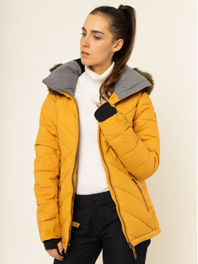 Roxy Roxy Snowboardová bunda Quinn ERJTJ03227 Žlutá Tailored Fit
