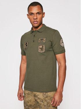 Aeronautica Militare Aeronautica Militare Тениска с яка и копчета 211PO1538P192 Зелен Regular Fit