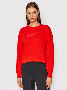 Nike Nike Majica dugih rukava Get Fit CU5506 Crvena Oversize