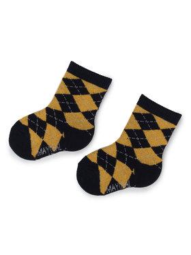 Mayoral Mayoral Sada 3 párů dětských vysokých ponožek 10634 Žlutá