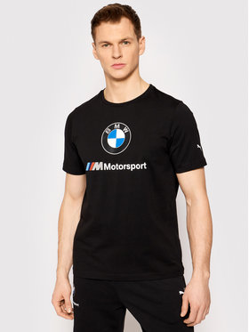 Puma Puma Tricou BMW Motorsport Ess Logo 599696 Negru Regular Fit