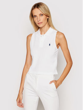 Polo Ralph Lauren Polo Ralph Lauren Polo marškinėliai Sls 211838096002 Balta Regular Fit
