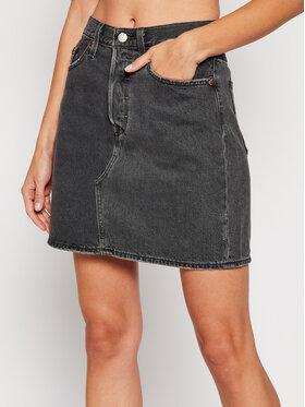 Levi's® Levi's® Džínsová sukňa Decon Iconic 77882-0018 Čierna Regular Fit