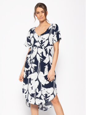Roxy Roxy Letní šaty Flamingo Shades ERJWD03428 Tmavomodrá Regular Fit
