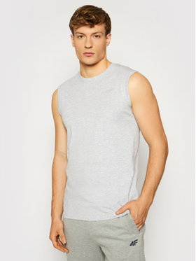 4F 4F Tank top NOSH4-TSM001 Šedá Regular Fit