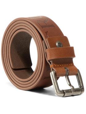 Trussardi Jeans Trussardi Jeans Vyriškas Diržas Belt Leather Maxi Logo Embossed 71L00122 Ruda