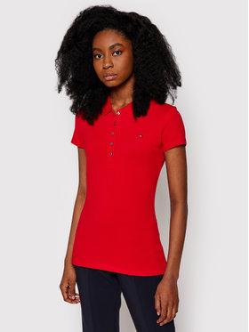 Tommy Hilfiger Tommy Hilfiger Тениска с яка и копчета New Chaira 1M57636661 Червен Slim Fit