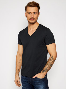 Tommy Jeans Tommy Jeans Póló DM0DM04410 Fekete Regular Fit