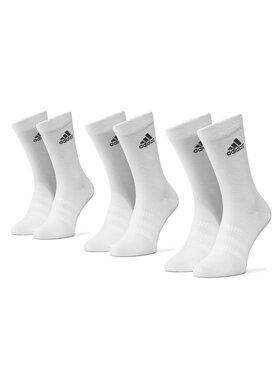 adidas adidas Комплект 3 чифта дълги чорапи мъжки Light Crew 3Pp DZ9393 Бял