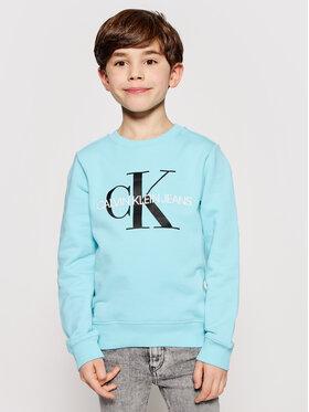 Calvin Klein Jeans Calvin Klein Jeans Mikina Monogram Logo IU0IU00069 Modrá Regular Fit