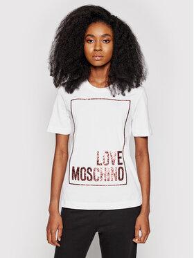 LOVE MOSCHINO LOVE MOSCHINO T-shirt W4H0605M 3876 Blanc Regular Fit