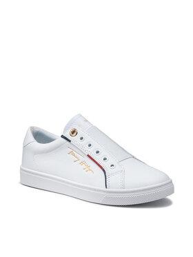 Tommy Hilfiger Tommy Hilfiger Sneakersy Slip On Tommy Hilfiger Cupsole FW0FW05915 Biały