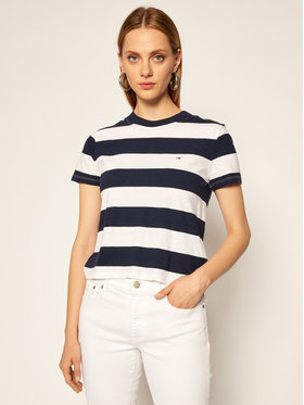 Tommy Jeans Tommy Jeans Marškinėliai Baby Stripe DW0DW08531 Spalvota Regular Fit