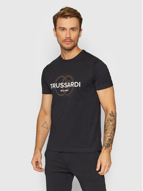 Trussardi Trussardi T-shirt Logo 52T00514 Nero Regular Fit