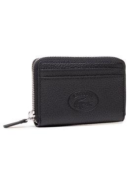 Lacoste Lacoste Kleine Damen Geldbörse Xs Zip Coin Wallet NF3406NL Schwarz