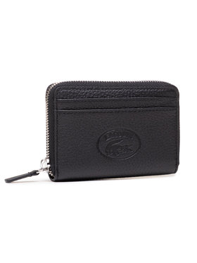 Lacoste Lacoste Малък дамски портфейл Xs Zip Coin Wallet NF3406NL Черен