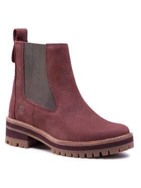 Timberland Timberland Členková obuv s elastickým prvkom Courmayeur Valley Chelsea TB0A2DSQC60 Bordová