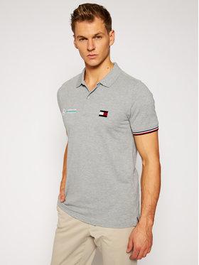 Tommy Hilfiger Tailored Tommy Hilfiger Tailored Тениска с яка и копчета MERCEDES-BENZ Logo TT0TT08493 Сив Regular Fit