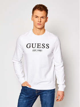 Guess Guess Bluză M1RQ08 K7ON1 Alb Slim Fit