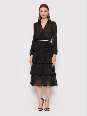 Rinascimento Rinascimento Sukienka koktajlowa CFC0104851003 Czarny Slim Fit