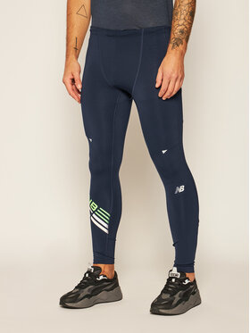 New Balance New Balance Leggings London Edition Printed Impact Run MP01248 Dunkelblau Fitted Fit
