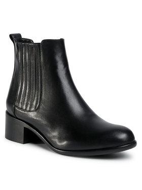 Gino Rossi Gino Rossi Kotníková obuv s elastickým prvkem 451 Černá