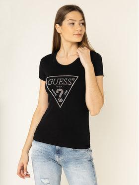 Guess Guess T-shirt Sparkle Tee W01I90 J1300 Noir Slim Fit
