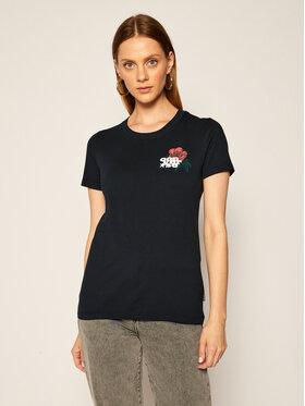 Converse Converse T-Shirt Romance Classic 10019820-A02 Czarny Regular Fit