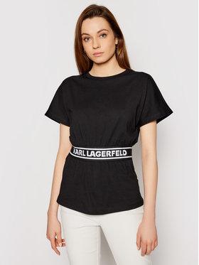 KARL LAGERFELD KARL LAGERFELD T-shirt Loga Tape Top 211W1705 Noir Regular Fit