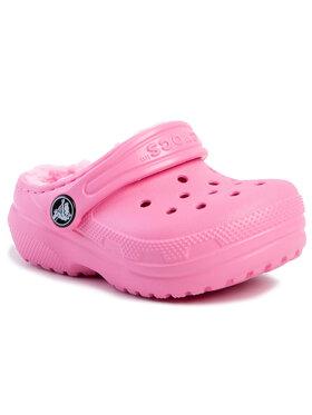 Crocs Crocs Чехли Classic Lined Clog K 203506 Розов