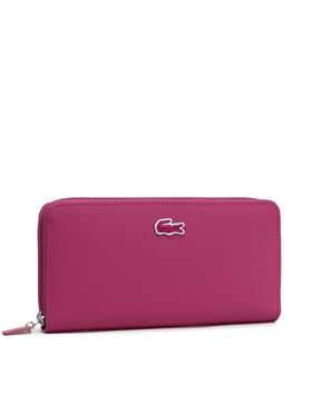 Lacoste Lacoste Голям дамски портфейл L Zip Wallet NF2900PO Розов