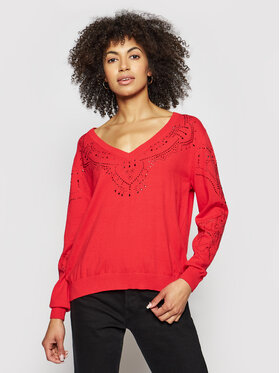 Desigual Desigual Džemper Gante 21SWJF04 Crvena Regular Fit