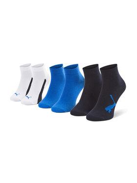 Puma Puma Súprava 3 párov vysokých detských ponožiek 907961 03 Modrá
