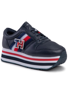 TOMMY HILFIGER TOMMY HILFIGER Сникърси Customize Flatform Sneaker FW0FW04595 Тъмносин