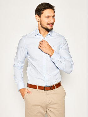 Tommy Hilfiger Tailored Tommy Hilfiger Tailored Košile Check Classic TT0TT06825 Modrá Slim Fit
